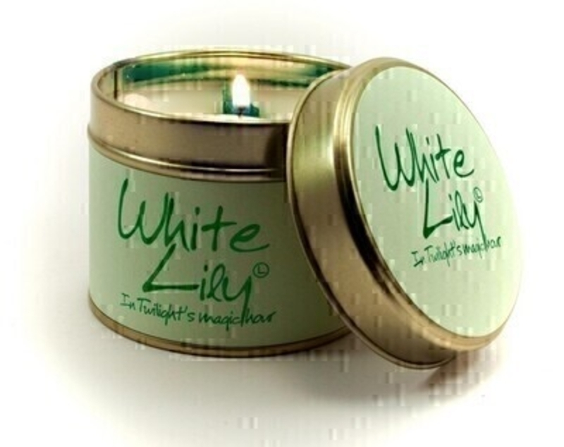 White Lily Scented Candle By Lily Flame: Booker Gifts